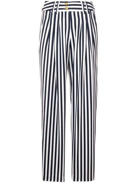 5a78170b20 HIGH WAIST STRIPED TAPERED PANTS